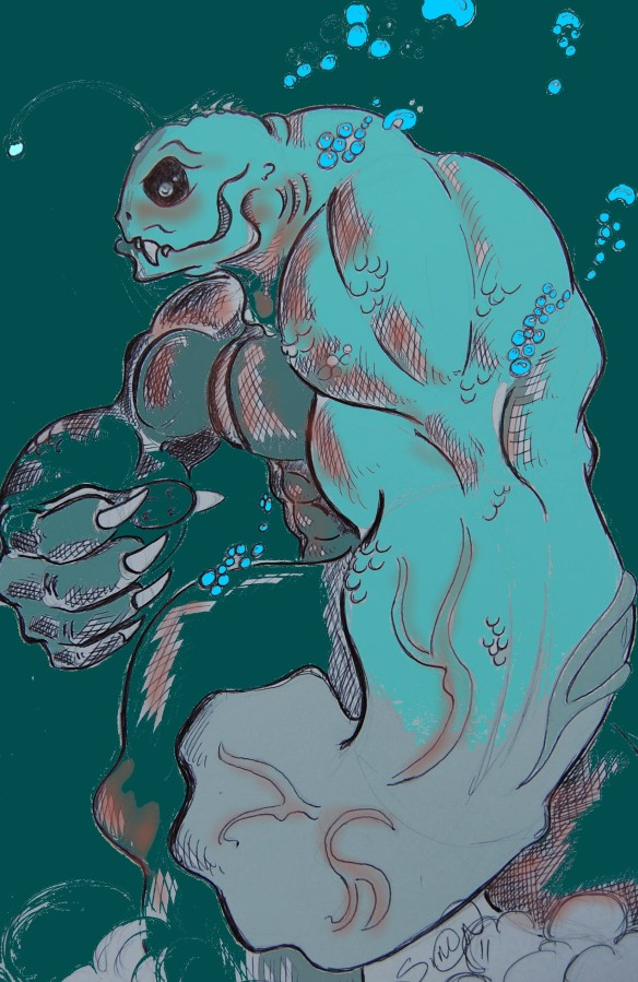 Aquatic monster with no Name