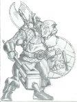 Dwarf Fighter Drawing